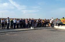 ERC recorda Carme Forcadell amb un centenar de persones a Mas d'Enric