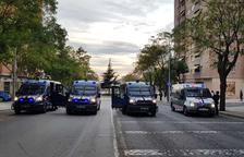 Forta presència policial per la convocatòria d'una concentració nacional a SPiSP