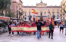 Unes 400 persones es concentren a Tarragona a favor de la unitat d'Espanya