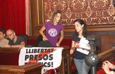 La CUP y Junts per Tarragona se marchan del plenario para rechazar la sentencia del proceso y la «violencia policial»