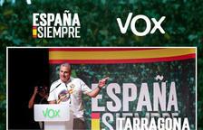 Acto de Ortega Smith (VOX) este martes en Tarragona