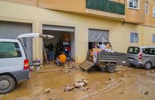 Els carrers de Riudoms desperten plens de fang i aigua
