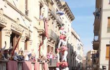 Les colles de Valls fan història carregant el 3 de 9 sense folre per Santa Úrsula