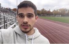 El olímpico Bruno Hortelano se suma a las peticiones de ayuda para l'Espluga de Francolí