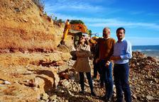 Costes inicia «treballs d'emergència» per recuperar part de la costa d'Alcanar Platja